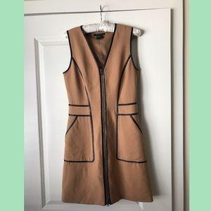 Camel / tan Armani Exchange zip dress w pockets